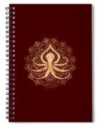 Golden Zen Octopus Meditating Spiral Notebook