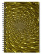 Goldenrod Vortex Spiral Notebook