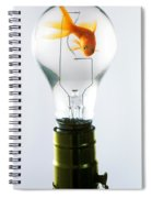 Goldfish In Light Bulb  Spiral Notebook
