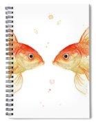Goldfish Love Watercolor Spiral Notebook