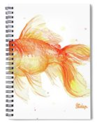 Goldfish Painting Watercolor Spiral Notebook