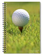 Golf Ball On Tee Spiral Notebook