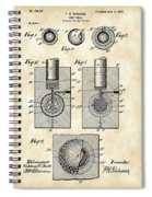 Golf Ball Patent 1902 - Vintage Spiral Notebook