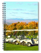 Golf Carts On Vermont Golf Course Spiral Notebook