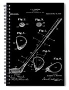 Golf Club Patent 1910 Black Spiral Notebook