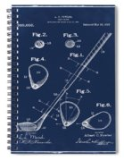 Golf Club Patent 1910 Blue Spiral Notebook