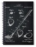 Golf Club Patent 1910 Chalk Spiral Notebook