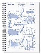 Golf Clubs Patent Drawing Spiral Notebook