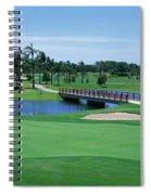 Golf Course Gold Coast Queensland Spiral Notebook