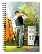 Golf In Club Fontana Austria 01 Dyptic Part 01 Spiral Notebook