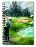 Golf In Crans Sur Sierre Switzerland 01 Spiral Notebook