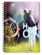Golf In Crans Sur Sierre Switzerland 03 Spiral Notebook