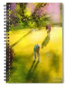 Golf In Spain Castello Masters  01 Spiral Notebook
