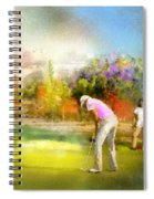 Golf Madrid Masters  02 Spiral Notebook