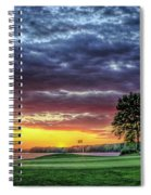 Golf Sunset Number 4 The Landing Reynolds Plantation Golf Art Spiral Notebook