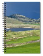 Golfing And Grazing Spiral Notebook