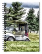 Golfing Before The Rain Golf Cart 03 Spiral Notebook