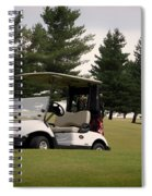 Golfing Golf Cart 01 Spiral Notebook