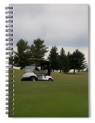 Golfing Golf Cart 02 Spiral Notebook