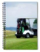 Golfing Golf Cart 03 Spiral Notebook
