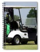 Golfing Golf Cart 05 Spiral Notebook