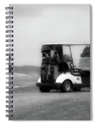 Golfing Golf Cart 06 Bw Spiral Notebook