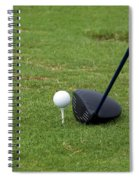 Golfing Lining Up The Driver Spiral Notebook
