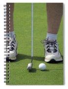 Golfing Lining Up The Putt Spiral Notebook