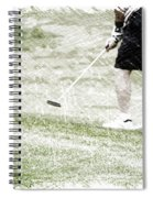 Golfing Putting The Ball 01 Pa Spiral Notebook