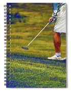 Golfing Putting The Ball 02 Pa Spiral Notebook