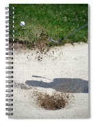 Golfing Sand Trap The Ball In Flight 01 Spiral Notebook