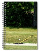 Golfing Sand Trap The Ball In Flight 02 Spiral Notebook