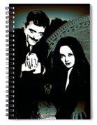Gomez And Morticia Addams Spiral Notebook