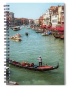 Gondola On The Grand Canal Spiral Notebook
