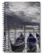 Gondolas In Front Of San Giorgio Island Spiral Notebook