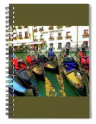 Gondoliers In Venice Spiral Notebook