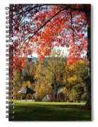 Gonzaga With Autumn Tree Canopy Spiral Notebook
