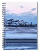Good Harbor Beach And Thacher Island Covered In Snow Gloucester Ma Spiral Notebook