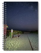 Good Harbor Beach Sign Under The Stars And Milky Way Spiral Notebook