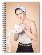 Good Looking Female Pouring Hot Coffee Love Spiral Notebook