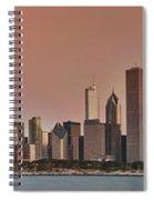 Good Morning Chicago Panorama Spiral Notebook