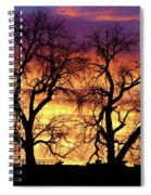 Good Morning Cows Colorful Sunrise Spiral Notebook