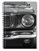 Good Vibrations - Black And White Spiral Notebook