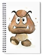 Goomba Watercolor Spiral Notebook