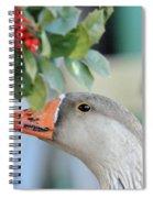 Goose Eating Berries Spiral Notebook
