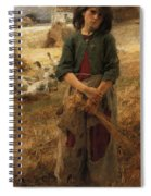 Goose Girl Of Mezy Spiral Notebook