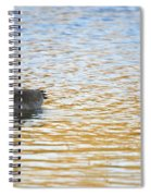 Goose On The Pond Spiral Notebook