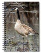 Goose Posing Spiral Notebook
