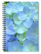 Gorgeous Blue Colorful Floral Art Hydrangea Flowers Baslee Troutman Spiral Notebook