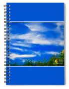 Gorgeous Blue Sky With Clouds Spiral Notebook